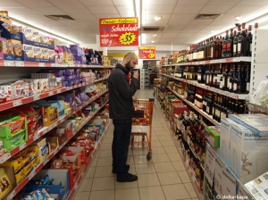 Sasha im Supermarket