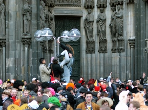 Picture in the centre of Cologne (Dom, cathedral) from the Carnival February 2010