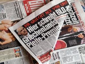 Bild-Zeitung 5.3.2010 IHR GRIECHT NIX VON UNS. Brief von Bild. Lieber Herr Ministerpräsident Papandreou