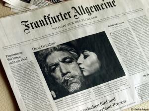 Frankfurter Allgemeine 5.3.2010 Diese Griechen, Anthony Quinn, Alexis Zorbas