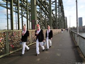Cologne 11.11.2010 Hohenzollernbrücke